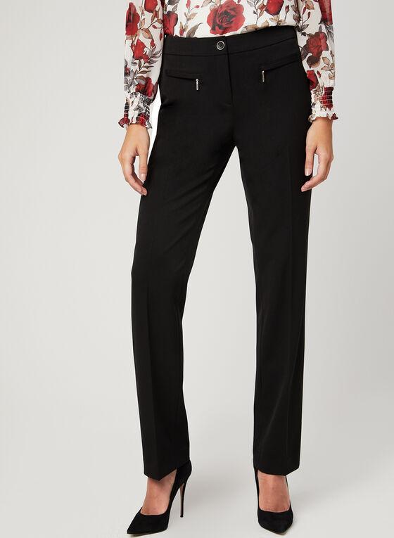 Modern Fit Straight Leg Pants, Black, hi-res