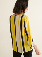 Striped Bell Sleeve Blouse, Yellow