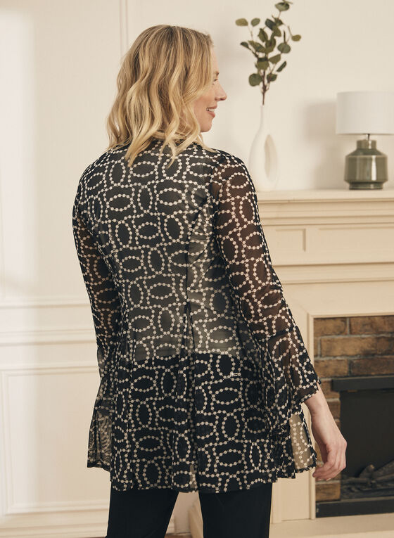 Dotted Chain Print Cover-Up, Black