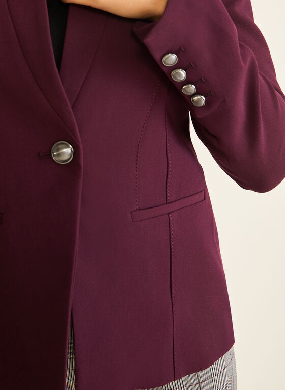 Inverted Notch Collar Jacket, Purple