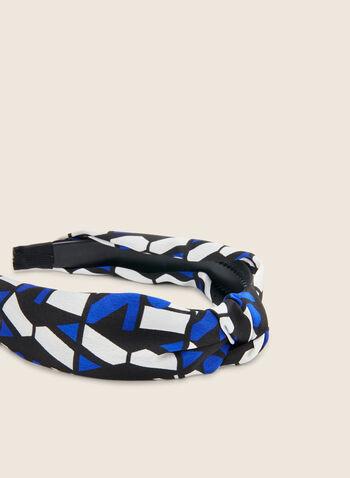 Serre-tête en tissu à motif géométrique, Bleu,  serre-tête, tissu, motif géométrique, printemps été 2020