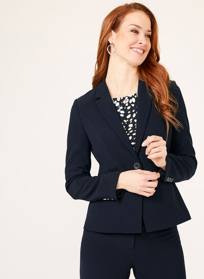 Notch Collar Blazer