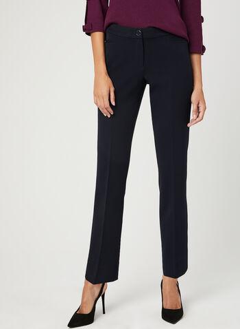 Modern Fit Straight Leg Pants, Blue, hi-res