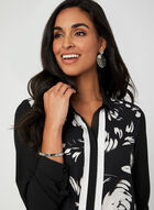 Floral Print Blouse, Black, hi-res
