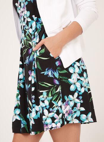 Robe sans manches à motif floral, Noir, hi-res