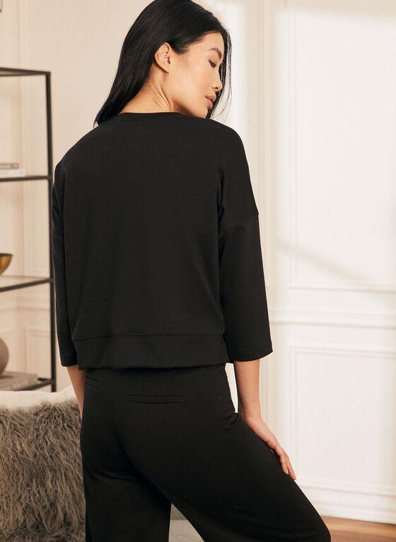 3/4 Sleeve Top, Black