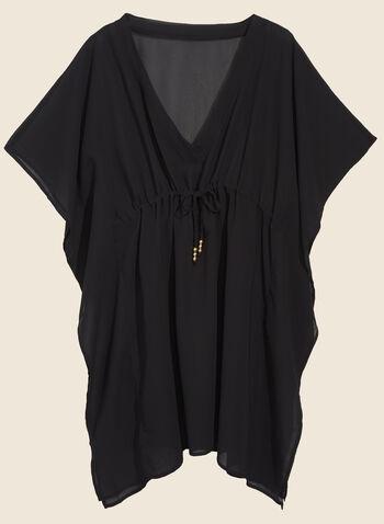 Echo - Cache-maillot en mousseline, Noir,  cache-maillot, tunique, mousseline,  manches, lien, printemps été 2020