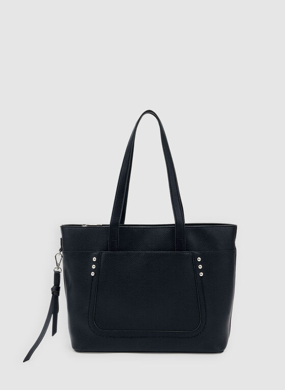Studded Tote Bag, Blue