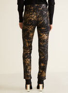 Pantalon motif métallique à enfiler, Noir