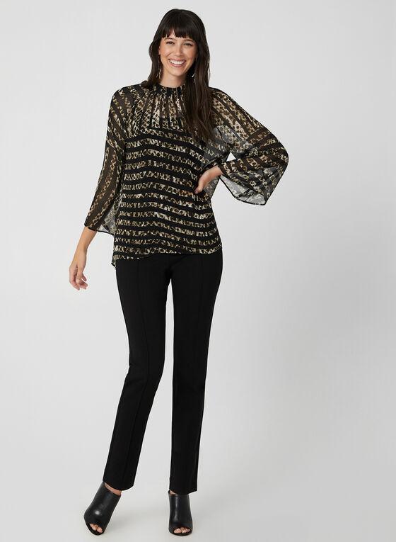 Leopard Print Blouse, Black