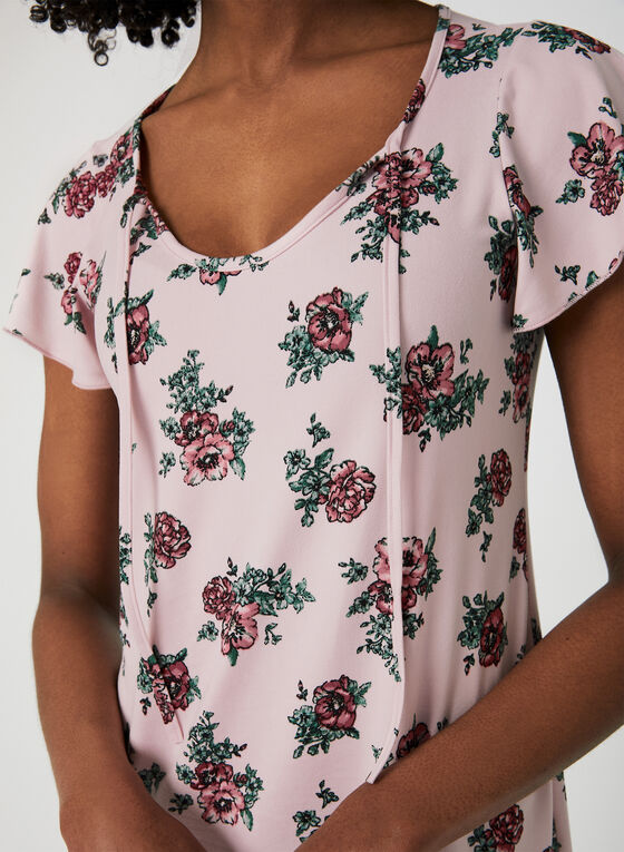Floral Print Nightgown, Pink, hi-res