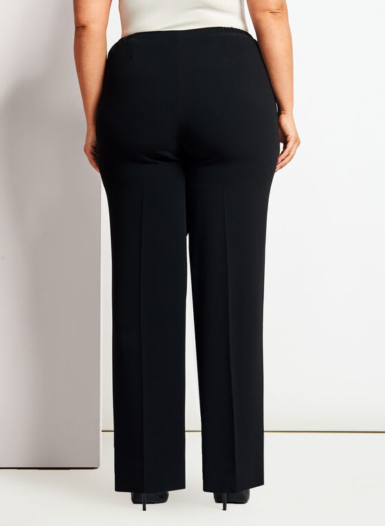 Louben - Modern Fit Straight Leg Pants, Black, hi-res
