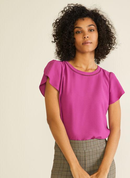 Tulip Sleeve Blouse, Purple