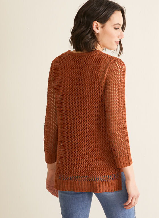 Crochet Sweater With Tank, Brown