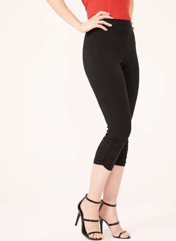 Carré Noir - Modern Fit Pull-On Capri Pants, Black, hi-res