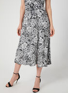 Perceptions - Lace Print Fit & Flare Dress, Silver, hi-res