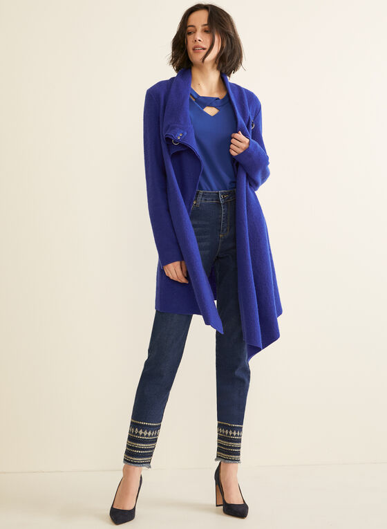 Carré Noir - Boiled Wool Coat, Blue