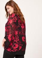 Kimono Sleeve Poncho Blouse, Black, hi-res
