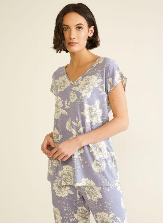 Floral Print Pyjama Set, Blue