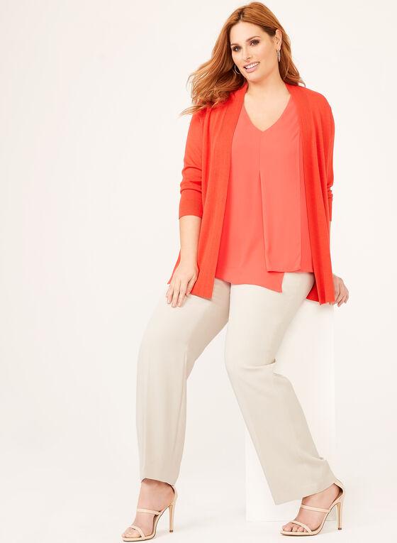 Louben - Pantalon coupe moderne à jambe droite, Blanc cassé, hi-res