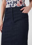 Mode de Vie – Short Denim Skirt, Blue, hi-res