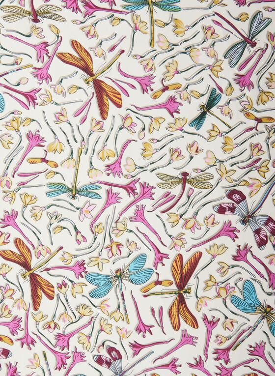 Foulard oblong motif libellule, Multi