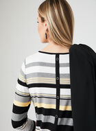 Stripe Print Jersey Top, Yellow, hi-res