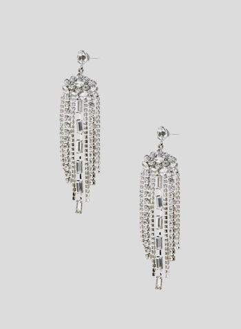 Crystal Chandelier Drop Earrings, Silver, hi-res