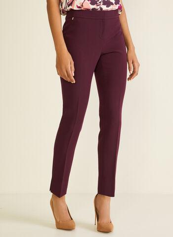 Pantalon à jambe droite, Violet,  pantalon, droit, pinces, automne hiver 2020