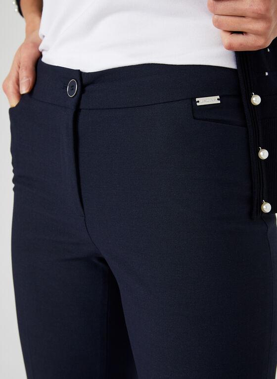 Pantalon coupe cité à jambe droite, Bleu, hi-res