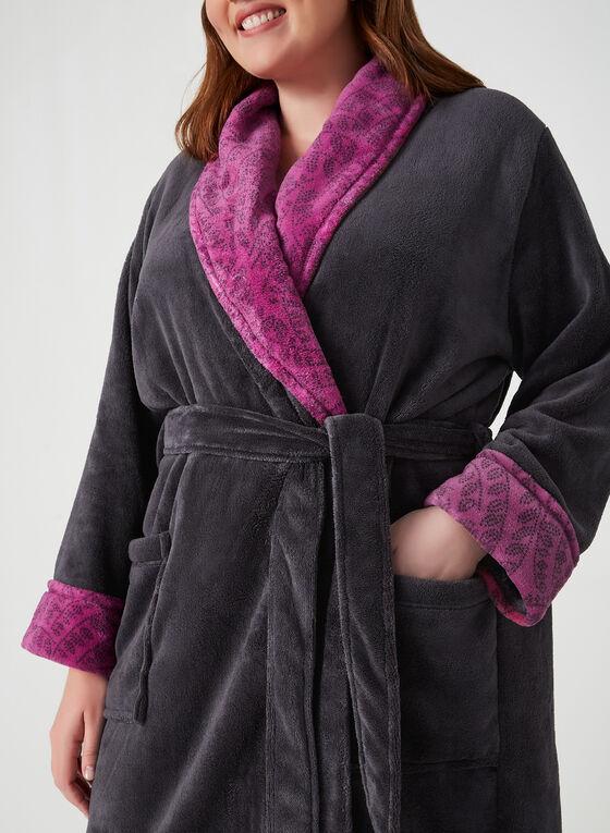 Claudel Lingerie - Robe de chambre cintrée, Gris