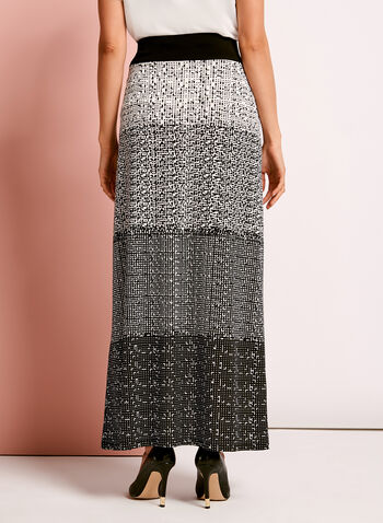 Geometric Gradient Print Maxi Skirt, , hi-res