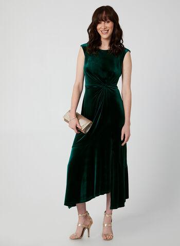 Long Velvet Dress, Green,  velvet dress, dress, long dress, velvet, sleeveless dress, Holiday, fall 2019, winter 2019