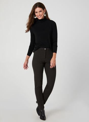 T-shirt à col roulé et manches longues, Noir, hi-res,  t-shirt, manches longues, col roulé, jersey, automne hiver 2019