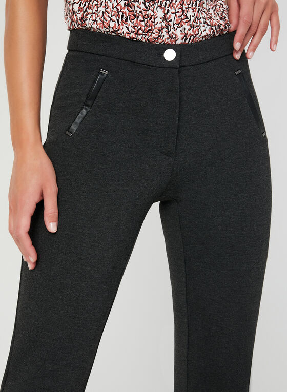 Pantalon cheville à coupe signature, Gris