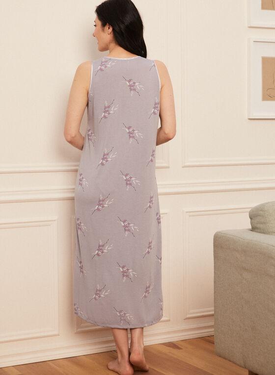 V-Neck Nightgown, Grey