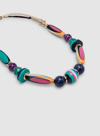 Multi-Colour Beaded Necklace, Multi, hi-res