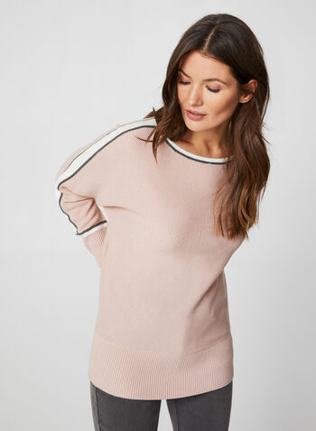 Dolman Sleeve Sweater, Pink,  fall winter 2019, dolman sleeves, long sleeves, knit fabric