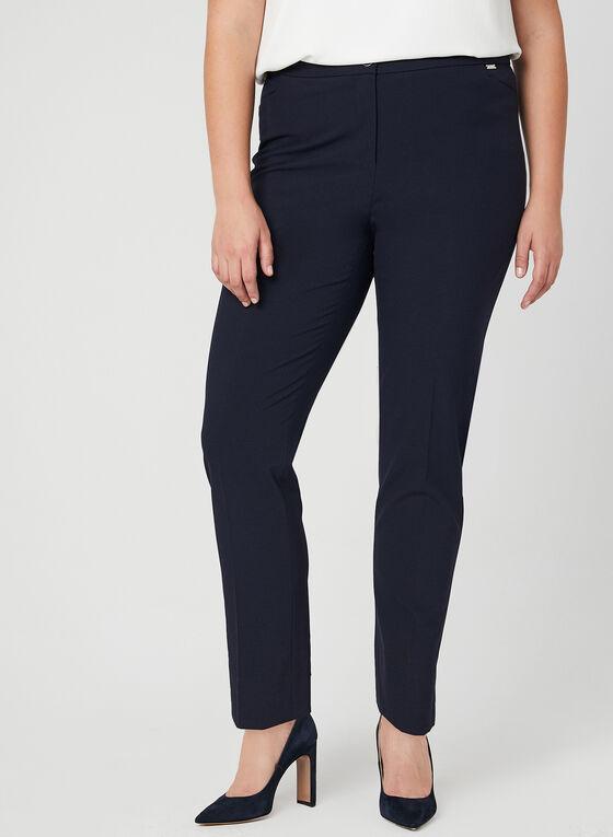 City Fit Straight Leg Pants, Blue, hi-res