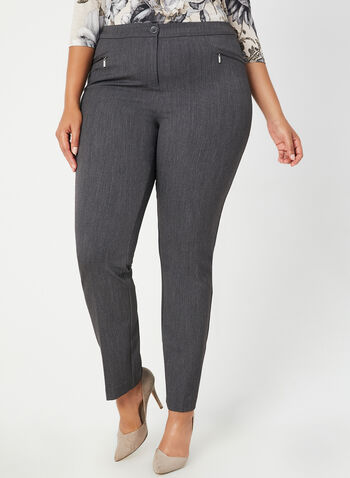 City Fit Straight Leg Pants, Grey,  dress pants