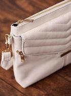 V Stitch Flap Crossbody Bag, White