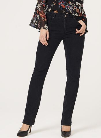 Simon Chang - Rose Print Signature Fit Slim Leg Jeans, , hi-res
