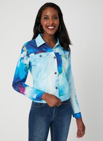Carré Noir - Watercolour Jacket, Blue, hi-res