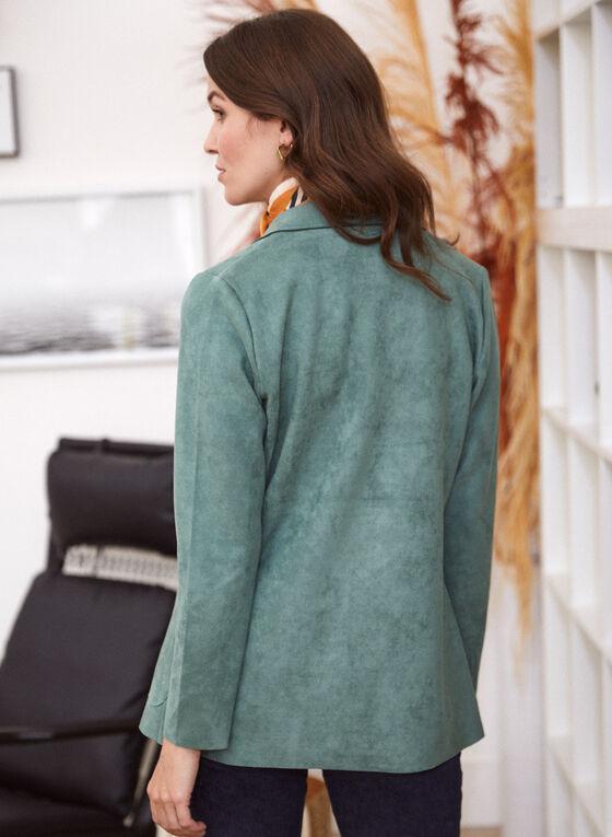 Faux Suede Jacket, Green