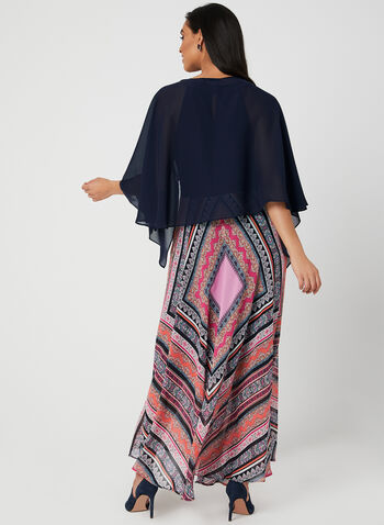 Nina Leonard - Chiffon Bolero, Blue,  cover up, spring 2019