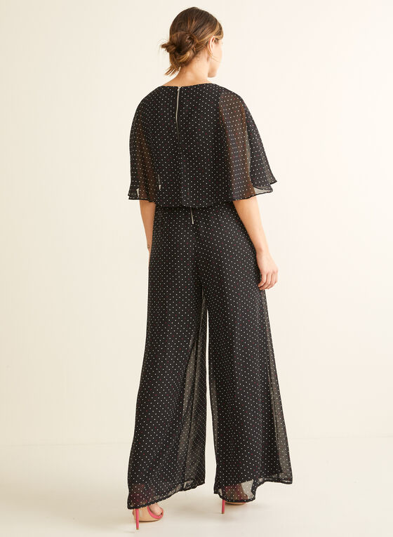Capelet Overlay Jumpsuit, Black