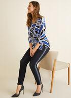 Jeans à jambe étroite et détails zippés, Bleu