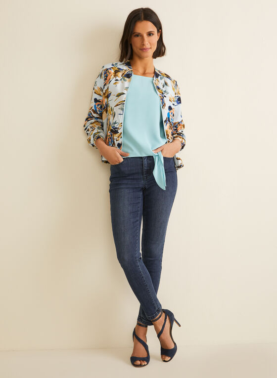 Cap Sleeve Blouse, Blue
