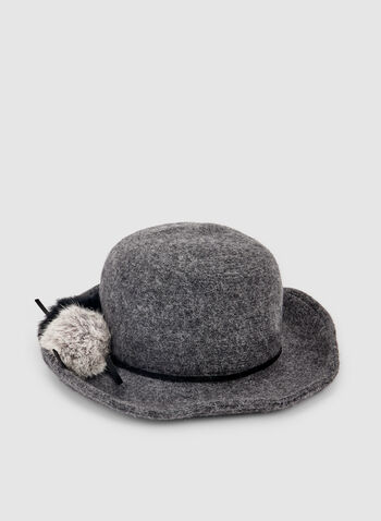 Pompom Wool Hat , Grey,  wool hat, hat, wool, pompom, fall 2019, winter 2019