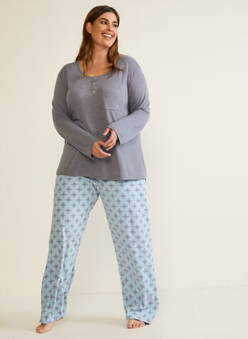 Microfleece Pyjama Set , Grey,  fall winter 2020, pyjama set